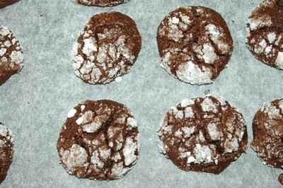 recette - petits craquelés au chocolat