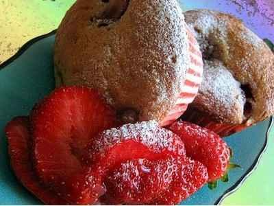 recette - petits gâteaux à la ricotta et à la fraise