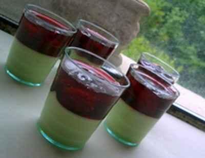recette - pistaches et griottes en verres gourmands