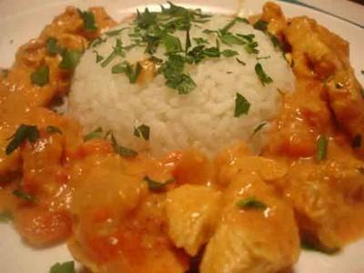 recette - poulet au curry fruité