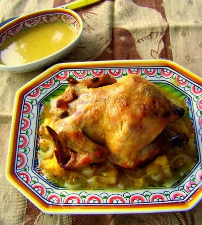 recette - poussin de cornouailles, sauce aux clémentines