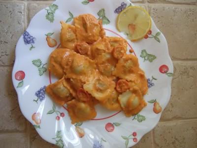 recette - raviolis sauce onctueuse