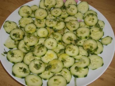 recette - salade de concombre citronnée