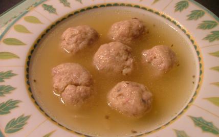 recette - soupe aux boulettes de pommes de terre