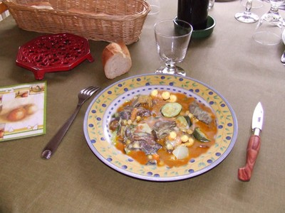 recette - tagine aux figues, aux abricots et raisins secs