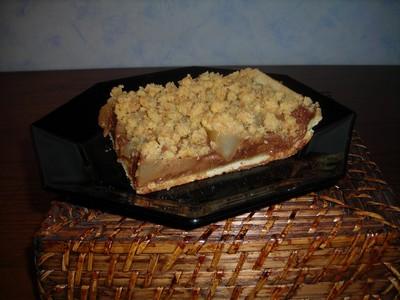 recette - tarte crumble chocolat poire