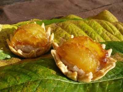 recette - tartelettes à la confiture de châtaignes et aux pommes caramélisées