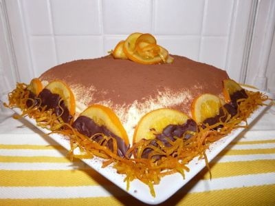 recette - tiramisu de noël : orange et chocolat