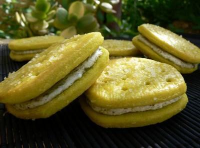 recette - biscuits fourrés au pesto