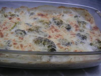 recette - brocoli gratiné à la bechamel
