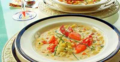recette - chaudrée au homard et au maïs