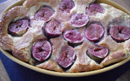 recette - clafoutis figues