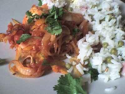 recette - crevettes à l'orange et à la coriandre