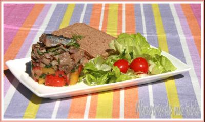 recette - duo de tartares de maatjes et de tomates bicolores