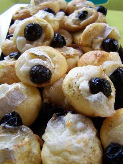 recette - feuilleté de chèvre et olives