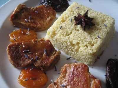 recette - filet mignon de porc aux fruits secs et à la lavande