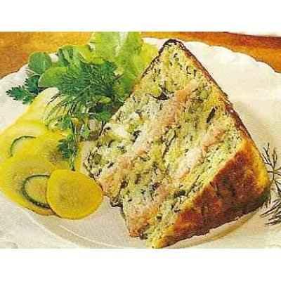 recette - gâteau de courgettes au saumon