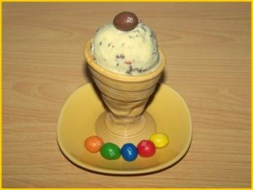 recette - glace aux m&m's