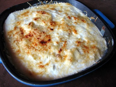 recette - gratin dauphinois au fromage blanc et courgettes