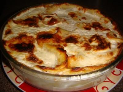 recette - gratin de raviolis aux 4 fromages