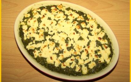 recette - gratin d'épinards à la féta