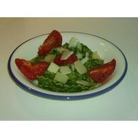 recette - mafaldine aux épinards et tomates roties