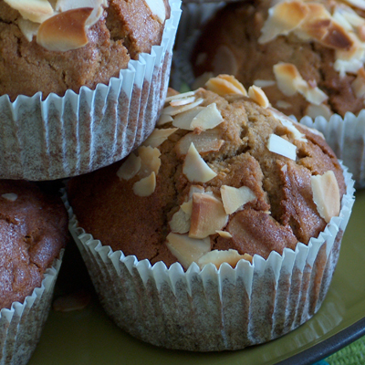 recette - muffins aux poires et amandes sans gluten