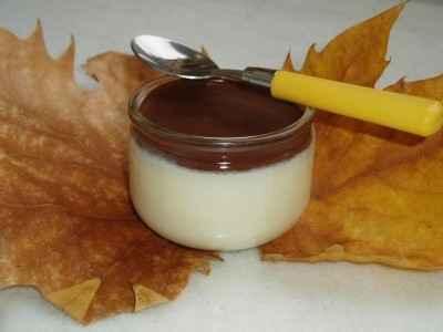 recette - panna cotta au chocolat blanc et sauce au chocolat noir
