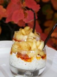 recette - riz au lait de coco et pommes caramélisées