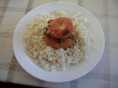 recette - riz et tomates farcies