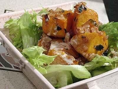 recette - salade de potiron grillé au macis