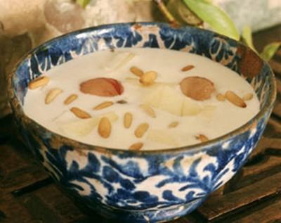 recette - soupe froide aux amandes