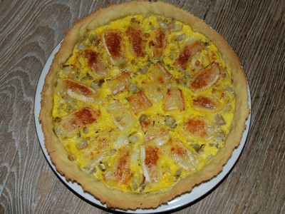 recette - tarte aux endives et au camenbert