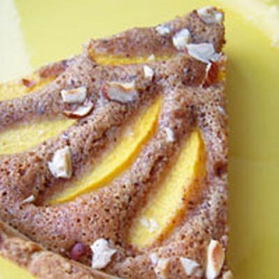 recette - tarte aux pêches, noisettes & thé