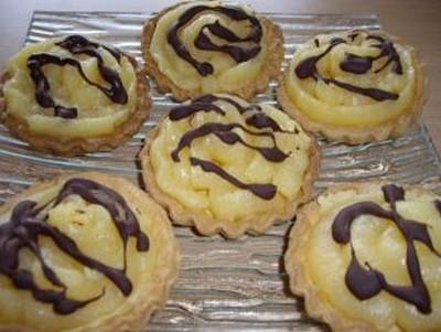 recette - tartelettes au lemon curd et chocolat