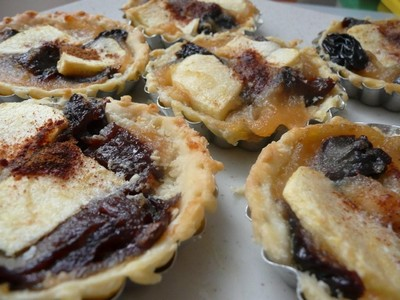 recette - tartelettes pommes pruneaux