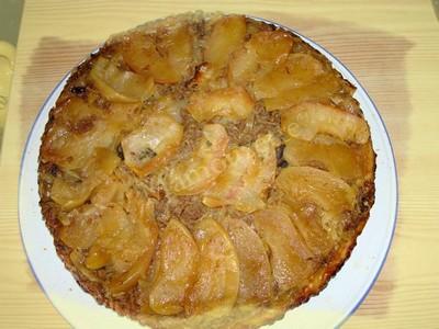 recette - tatin de pommes et chou blanc