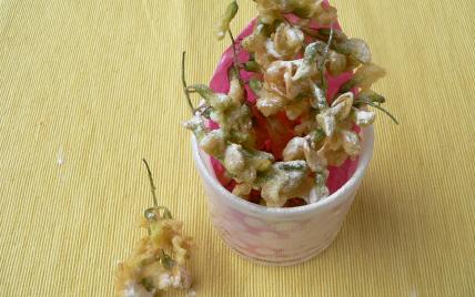 recette - tempura de fleurs d'acacia