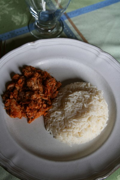 recette thon sauce tomate et son riz facile et rapide. Black Bedroom Furniture Sets. Home Design Ideas