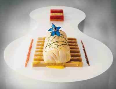 recette - bar de ligne, tapioca d'huître, fleur/feuille de bourrache