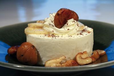 recette - blanc manger coco banane et châtaignes périgord limousin grillées