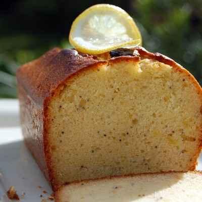 recette - cake au citron, miel et graines de pavot
