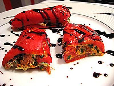 recette - canellonni rouges chèvre chorizo