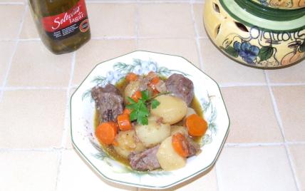 recette - cocotte de joues de porc en curry aux petits légumes