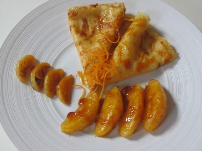 recette - crêpes façon suzette et agrumes rôtis