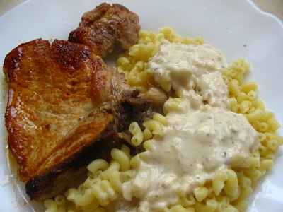 recette - filet de porc au bleu et aux noisettes
