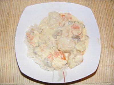 recette - filet de dinde � la cr�me