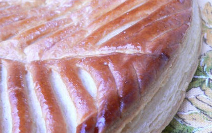 recette - galette des rois frangipane pralin aux amandes caramélisées