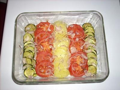 recette - gratin de courgettes, tomates et pommes de terre