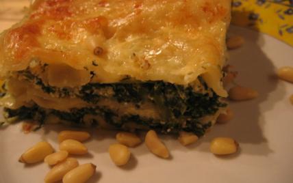 recette - lasagne épinards ricotta et pignons